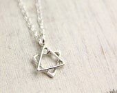 Little Star of David Silver Necklace