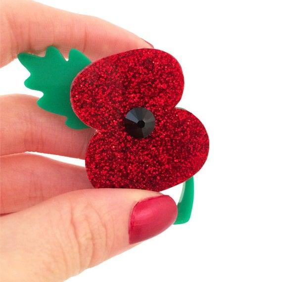 how to make a poppy brooch
