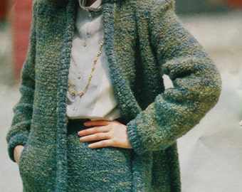 Suit Knitting Pattern Brio Yarn by Missoni Filatura Di Crosa M1098 Skirt Jacket Cardigan Sizes 10 12 14 Paper Original NOT a PDF