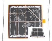 artist wooden blocks and puzzle- stacking toy -art