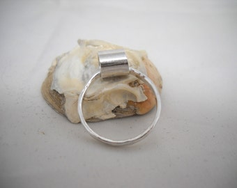 Band with Tube ring size 5 1/2