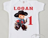 Cowboy Birthday Shirt - Cowboy Party Shirt - Toddler Boy Texas - Custom Size Tee Retro - Boys Vintage Personalized - Choose Hair Color