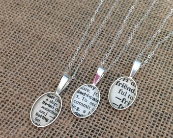 Gift ideas for her anniversary, Personalized Word Necklace, Bridesmaid Gift Ideas, Sterling Silver Word Necklace, Best Friend Necklace