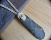 Beach Stone Jewelry - Simple Stone Necklace - Mens Jewelry - RAD