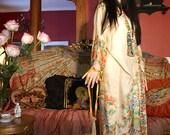 EXCELLENT CONDITION 1920s kimono flapper  tissue silk robe CALANTHE vintage kimono