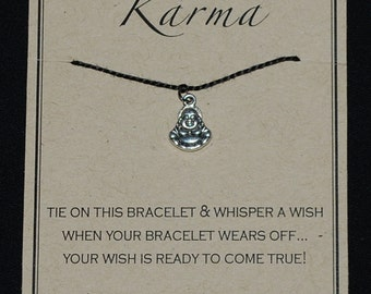 Ivory buddha pendant etsy good karma buddha wish bracelet buy 3 items get 1 free mozeypictures Choice Image