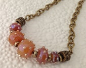 Just a Little Set of Rich Dotted Lampwork Beads Necklace