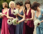 MARSALA Infinity Convertible Bridesmaid Dresses  Hundreds of fabrics  Made to order in all wedding colors to precise sizes  Made in the USA