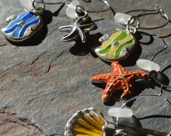 Cheers - The ORIGINAL Sea Glass WINE CHARMS