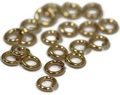 4mm Open Rings, 20 Gold Filled 4mm Open Jump Rings,  20 Gauge, Gold Filled Jewelry Findings, Gold Rings, Connectors, Small Rings (F 184f)
