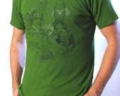 SALE Fashionable Frogs T-shirt - Frog Shirt - Sale Shirt - Unisex Tee - Frog Art - Animals in Clothes