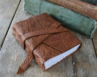 "Leather Journal . Leonardo da Vinci quote & ""Vitruvian Man"" . handmade handbound . distressed brown (320 pgs)"