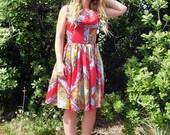 Dolce Vita cowl neck dress- ornate print