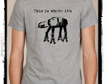 This is where it's At-At mens shirt Alternative Apparel top tshirt