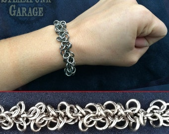 Bracelet - Shaggy Loops - Stainless Steel Metal Chainmaille Jewelry
