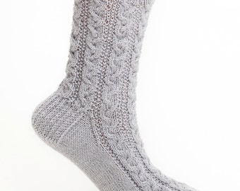 PATTERN ONLY Braided Cable Socks