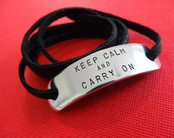 Keep Calm and Carry On Bracelet - Personalized Bracelet - WWII
