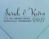 "Personalized Return Address Stamp | Wood or Self-Inking | ""design #33"" by Swanky Press 