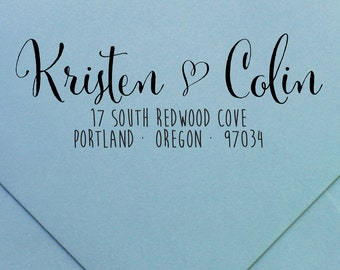 "Personalized Return Address Stamp | Wood or Self-Inking | ""design #32"" by Swanky Press 