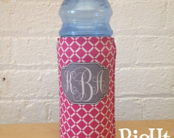 Propel or Water Bottle Coolie - Huggie - Personalize your Own 16oz Bottle Sleeve with Monograms & Patterns - 16oz Bottle Cover Cozy