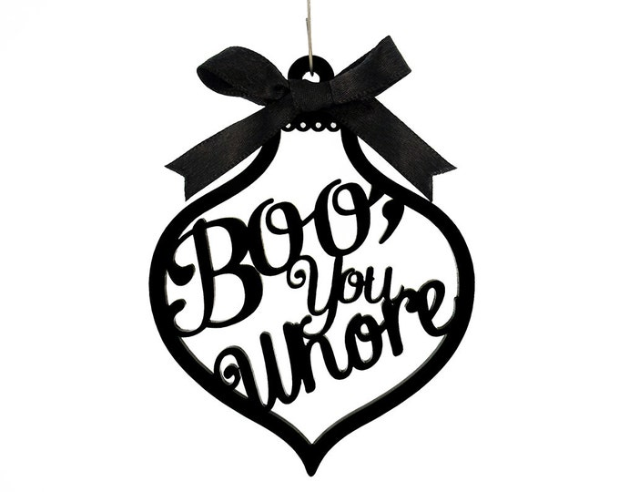 Featured listing image: Boo, You Whore Ornament - Mean Girls Movie Quote -  Laser Cut Acrylic or Wood