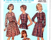 Dress with Two Skirts Beginner How to Sew Pattern Bust 38