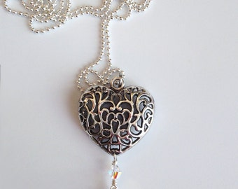 Heart Lanyard Necklace with Swivel Clip