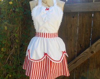 MARY POPPINS apron style  womens and kids full Apron holly jolly apron  from Lover Dovers