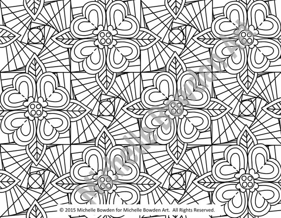 glory be coloring page - coloring page printable paradoxical glory by michellebowdenart