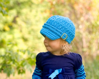 Toddler Newsboy Hat 2T to 4T Toddler Girl Newsboy Cap Toddler Girl Hat Toddler Hat Toddler Boy Newsboy Toddler Boy Hat Bright Blue Newsboy