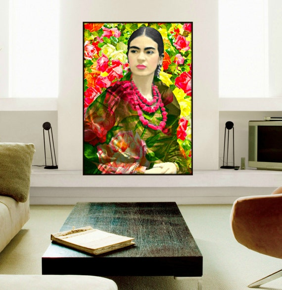 Frida Kahlo Poster Watercolor Style Art Print By ARTDECADENCE