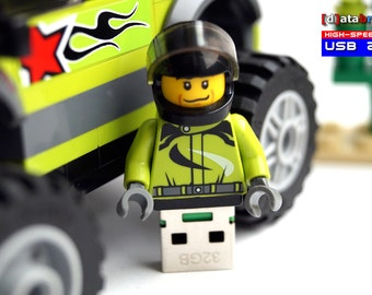 32GB Racer in complete Lego® Minifigure with Monster Truck