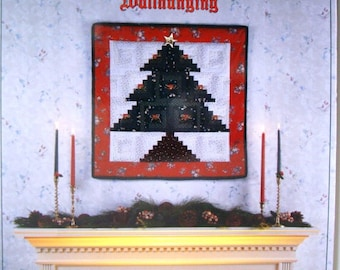 Log Cabin CHRISTMAS TREE Wallhanging from the Quilt In A Day Series No.2015 Quilted Wall Hanging