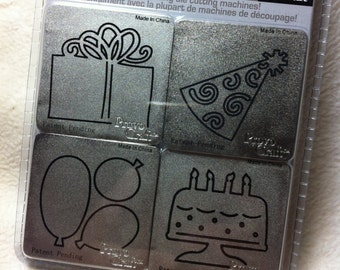 Birthday Cutting Dies...4 Piece Set of Brand New Birthday Themed Cutting Dies