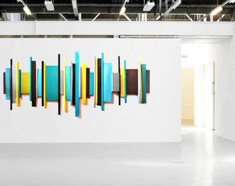 Modern Geometric Wall Art | Abstract Art | Wood Wall Sculptures | Custom Artwork | Corporate Art | 3D Wall Art | Rosemary Pierce Modern Art