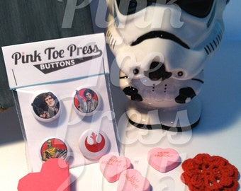 Star Wars REBEL Pinback Button Pack of 4