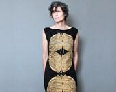Gold Butterfly Dress - Insect Dress - Art Deco Butterfly Motif