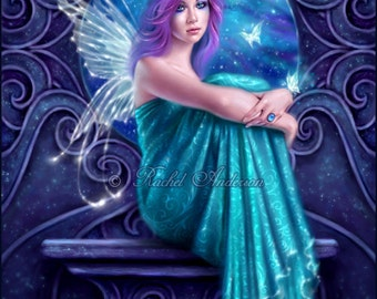 Astraea Fairy with Butterflies Art Print