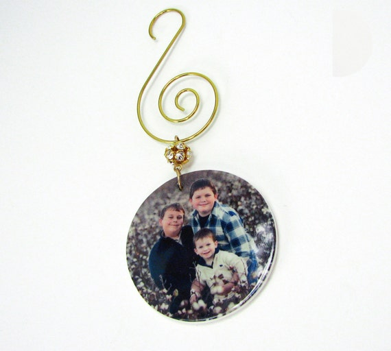 Family Christmas Photo Ornament - OOSRnd - XS