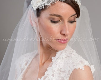Lace Cap Veil, Great Gatsby Veil, Juliet Cap Veil, Bridal Veil, Lace Wedding Veil - Gabrielle