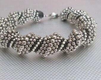 silver beaded jewelry cellini bead bracelet