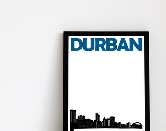 Durban City Print // Travel Art South Africa
