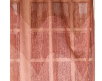 """Ombre Curtain - Shades of Brown Waves 26""""x84"""" Sheer Rod Pocket Curtain Weave Fabric Decor Housewares Window Treatment Drapes Curtain Panels"""