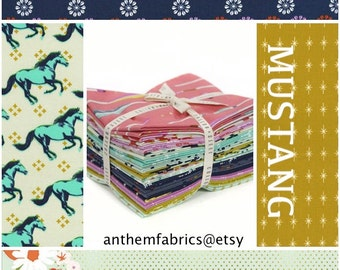 Mustang by Melody Miller for Cotton + Steel cotton fabric bundle , 14 pieces