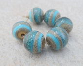 Handmade Lampwork Beads - Organic Turquoise Glass Beads