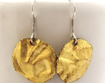 Gold Contemporary Disc Dangles