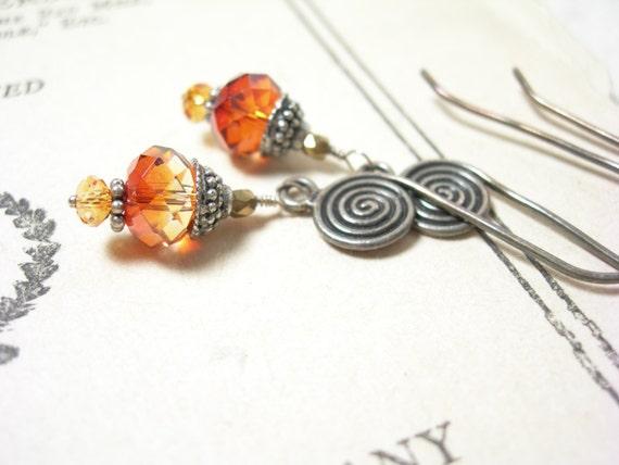 Sale, Swarovski crystal earrings sterling silver pamelasjewelry