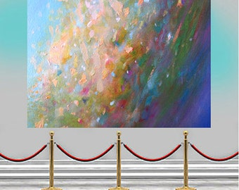 Original large ABSTRACT PAINTING fine art on canvas modern art contemporary acrylic painting wall art Leearte Carol Lee Art Studio