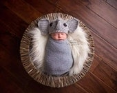 Baby elephant hat - newborn to toddler sizes available