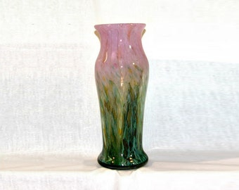 Art Seymour Impressionist Series Hand Blown Glass Vase Hostess Gift Wedding Gift Unique Present OOAK Home Decoration